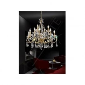 FL2159/12 Chiffon 12 Light Crystal Ceiling Light Gold