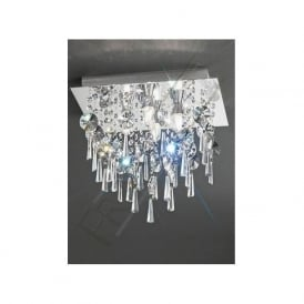 CF5721 4 Light Bathroom Crystal Ceiling Light Polished Chrome
