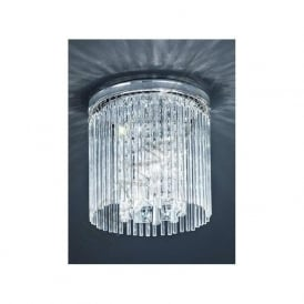 CF5726 3 Light Bathroom Crystal Ceiling Light Polished Chrome