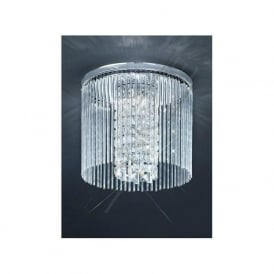 CF5727 3 Light Bathroom Crystal Ceiling Light Polished Chrome