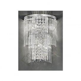 FL2309/3 Charisma 3 Light Crystal Wall Light Polished Chrome