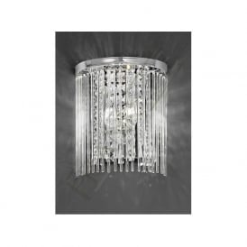 FL2310/2 Charisma 2 Light Crystal Wall Light Polished Chrome