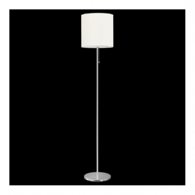 82813 Sendo 1 Light Switched Floor Lamp Brushed Aluminium