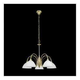 89827 Milea 5 Light Ceiling Pendant Satin Brass