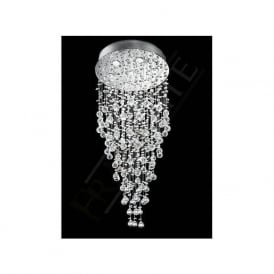 FL2020/7 Constellation 7 Light Crystal Chandelier Polished Chrome
