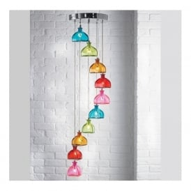 SARANDON-10MULTI Sarandon 10 Light Pendant Multicoloured