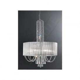 FL2304/6 Empress 6 Light Crystal Ceiling Pendant Polished Chrome