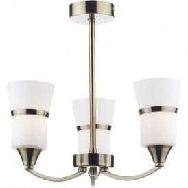 DUB0375/LED Dublin 3 Light Ceiling Light Antique Brass