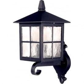 BL17 Winchester 1 Light Outdoor Wall Light Lantern Black IP44