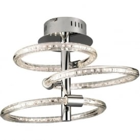 60192 Nolte LED Semi Flush Ceiling Light Polished Chrome