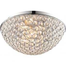60103 Chryla 3 Light Flush Ceilling Light IP44 Polished Chrome