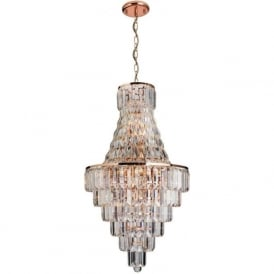 61150 Innsbruck 18 Light Ceiling Light Rose Gold Plate