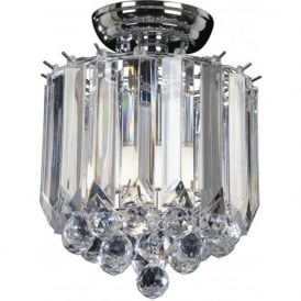 FARGO-CH 2 Light Modern Flush Ceiling Light Chrome Plated Finish