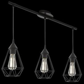 94189 Tarbes 3 Light Ceiling Pendant Black