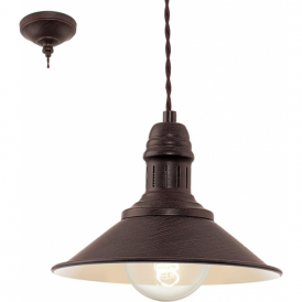 49455 Stockbury 1 Light Small Ceiling Pendant Antique Brown