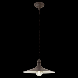 49456 Stockbury 1 Light Large Ceiling Pendant Antique Brown