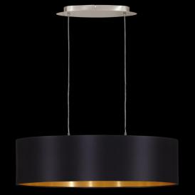 31611 Maserlo 2 Light Pendant Glossy Black