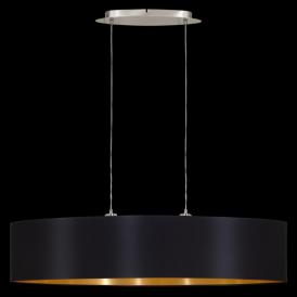 31616 Maserlo 2 Light Pendant Glossy Black