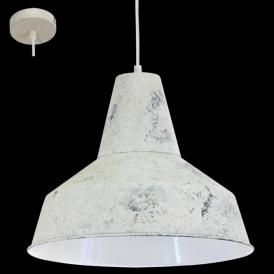 49249 Somerton 1 Light Ceiling Pendant Limed White