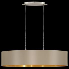 31618 Maserlo 2 Light Pendant Glossy Taupe