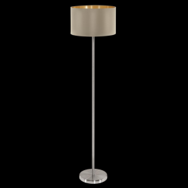 95171 Maserlo 1 Light Floor Lamp Glossy Taupe