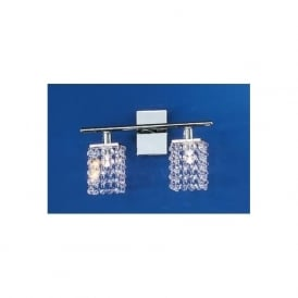 85332 Pyton 2 Light modern Wall light genuine lead crystal and chrome finish (switched)