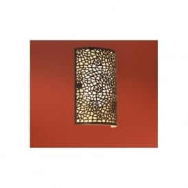 89115 Almera 1 light modern wall light champagne glass antique brown finish
