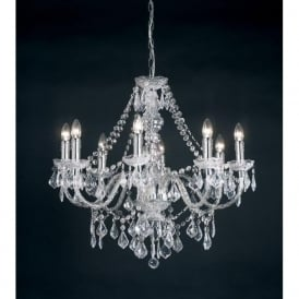 308-8CL Clarence 8 Light Traditional Chandelier Ceiling Pendant Light Clear Acrylic Finish