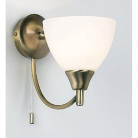 1805-1AN Alton 1 Light Switched Wall Light Antique Brass