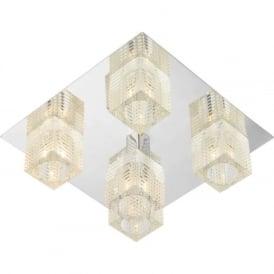 OSW5450 Oswald modern 5 light ceiling flush polished chrome finish