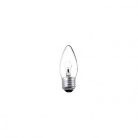 ES/E27 35 mm plain candle clear bulb