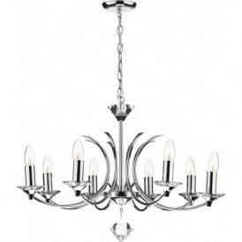 MED0850 Medusa 8 light modern ceiling pendant crystal and polished chrome finish