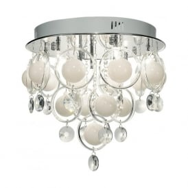 CLO1350 Cloud 9 Light Ceiling Light Polished Chrome Finish