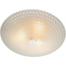 COL522 Colby 3 light modern ceiling flush frosted glass finish