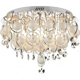 CLO1850 Cloud 18 Light Modern Ceiling Light Polished Chrome Finish