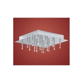 89778 Soraya 16 light modern flush ceiling light chrome finish