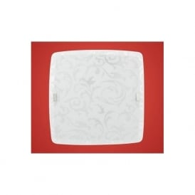 90044 Scalea 1 2 light modern flush wall/ceiling light with a decorated glass shade