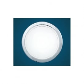 83155 Planet 1 1 light modern wall/ceiling light chrome finish with a satinated glass shade