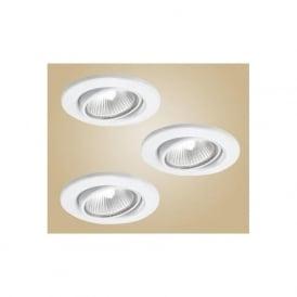 5464 Einbauspot 12V recessed downlight white finish (adjustable) set of 3