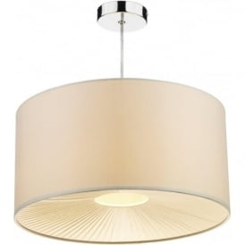 RIT6533 Rita 1 Light Non Electric Pendant Cream