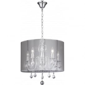 4805-5CC Olivia 5 Light Ceiling Light Polished Chrome