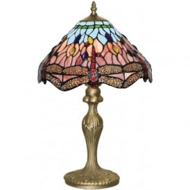 1287 Dragonfly 1 Light Table Lamp Antique Brass