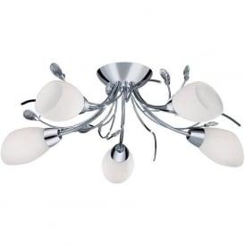 1765-5CC Gardenia 5 Light Semi-Flush Ceiling Light Polished Chrome