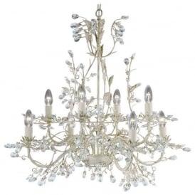 2498-8CR Almandite 8 Light Ceiling Light Cream Gold