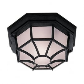 2942BK Outdoor And Porch 1 Light Traditional Wall Light IP54 Rated Cast Aluminium Black Finish