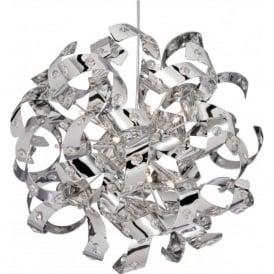 5816-6CC Curls 6 Light Ceiling Pendant Polished Chrome