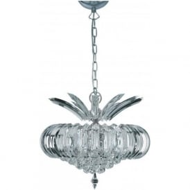 30020CC Sigma 5 Light Ceiling Pendant Polished Chrome