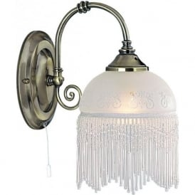 3151-1AC Victoriana 1 Light Wall Light Antique Brass
