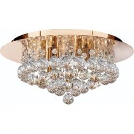 3404-4GO Hanna 4 Light Semi-Flush Ceiling Light Gold