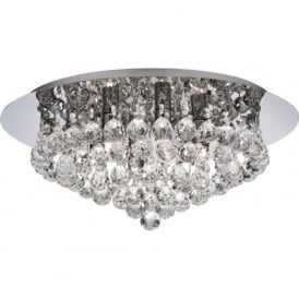 3406-6CC Hanna 6 Light Semi-Flush Ceiling Light Polished Chrome